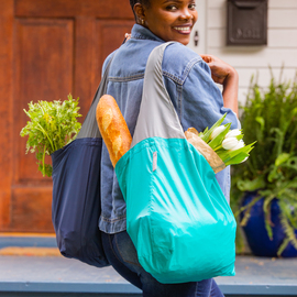 24-7 Reusable Shopping Bags, Set of 2
