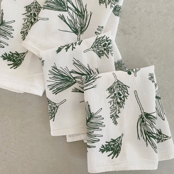 Evergreens Cocktail Napkin, Set of 4