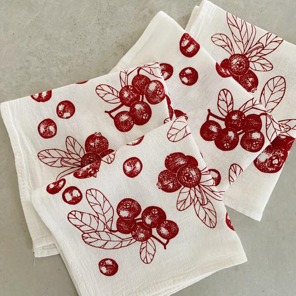 Cranberries Cocktail Napkin, Set of 4