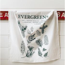 Natural Cotton Tea Towel, Evergreens