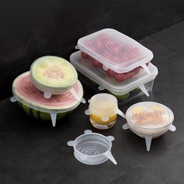 Reusable Silicone Lids, Set of 6