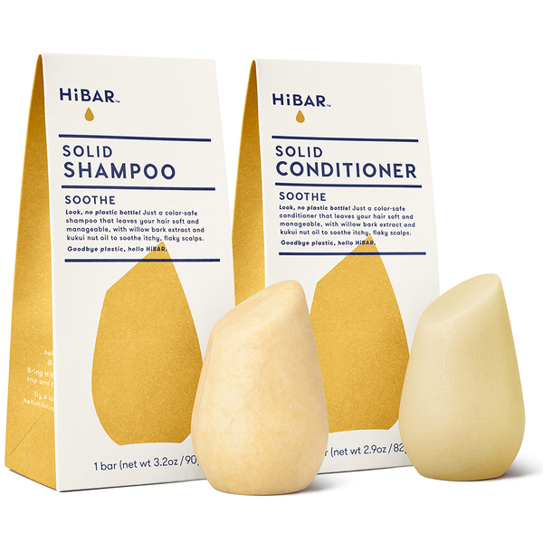 Solid Shampoo and Conditioner Set, Soothe