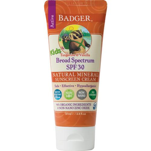 badger spf 30 kids sunscreen