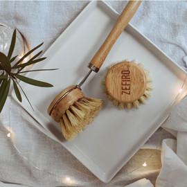 Bamboo and Sisal Dish Brush