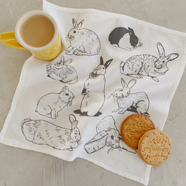 Hares and Rabbits Cocktail Napkins, Set of 4