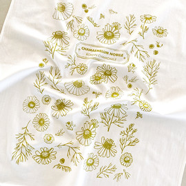 Chamomile Flowers Tea Towel