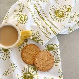 Chamomile Flowers Tea Towel