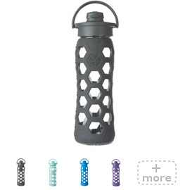 22oz Glass Flip Top Water Bottle