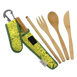 Premium Bamboo RePETe Utensil Set