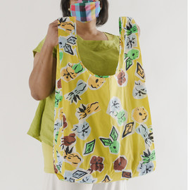 BIG Reusable Shopping Bag, Paper Floral
