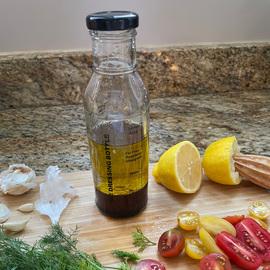 Glass Salad Dressing Bottle