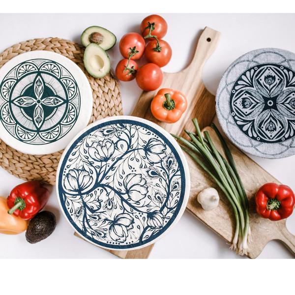 Three Piece Bowl Covers Set