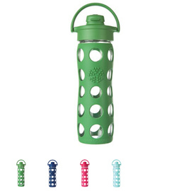 16 oz Glass Water Bottle with Flip Top