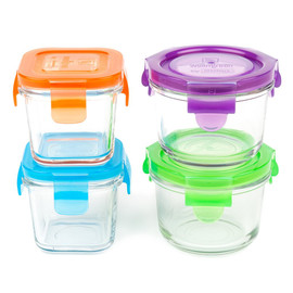 Wean Cube & Wean Bowl, Set of 4