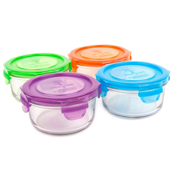 12oz Glass Lunch Bowls, Set of 4