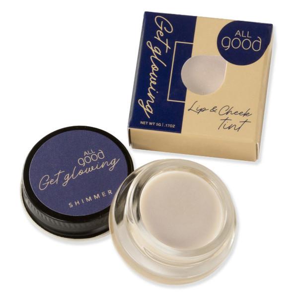 Get Glowing Lip & Cheek Tint, Shimmer