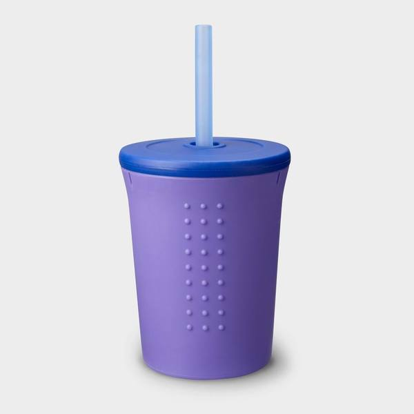 12oz Silicone Straw Cup
