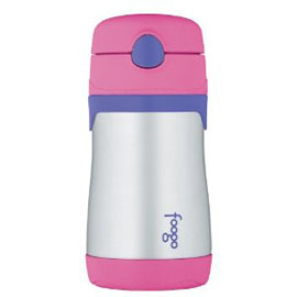 10oz Foogo Leak-proof Insulated Straw Bottle