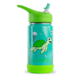 12oz Frost Insulated Water Bottle with Straw and Bumper Base