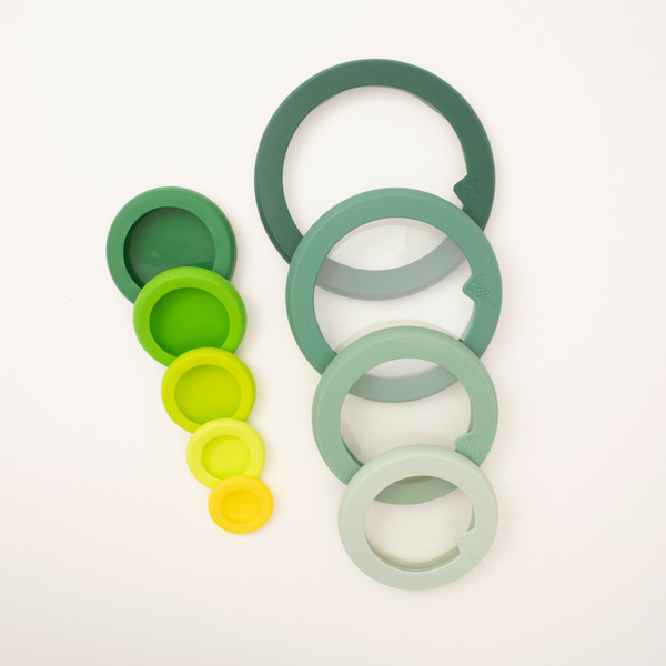 Food Huggers and Glass Lids, 9-Piece Bundle