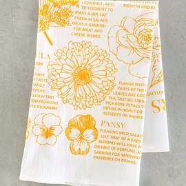 Edible Flowers Tea Towel