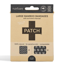Large Bamboo Bandages with Activated Charcoal