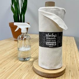 Organic Rolled UNpaper Towels + Holder