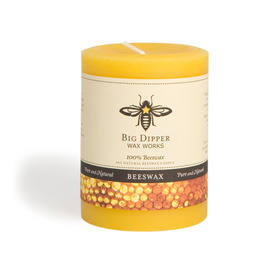 Pure Beeswax Pillars