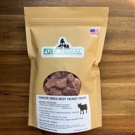 Freeze Dried Beef Heart Treats for Dogs
