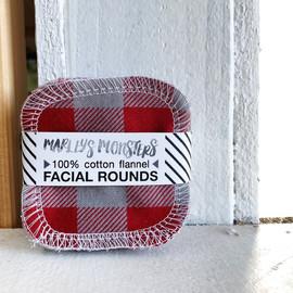 Cotton Flannel Facial Rounds