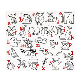 Silicone Placemat, Alphabet Animals