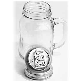15oz Glass Mug with Stainless Steel Drink Top
