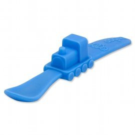 Silicone Train Spoon, Blue