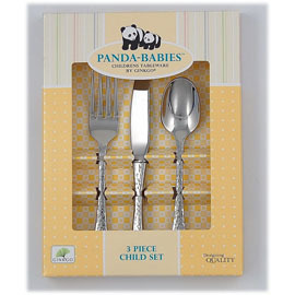 3 Piece Child Stainless Steel Utensil Set