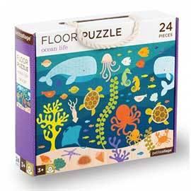 Ocean Life Floor Puzzle, 24 Piece