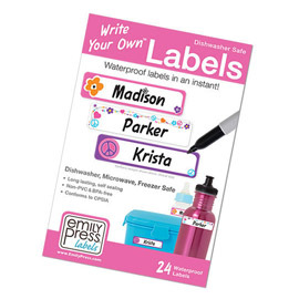 Waterproof Write-on Labels (24 pack)