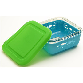 Glass Storage Container with Silicone Sleeve & Lid