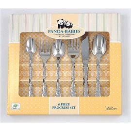 6 Piece Children's Progressive Stainless Steel Utensil Set
