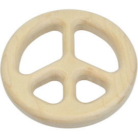 Natural Maple Teether, Peace