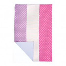 Organic Burp Cloth, Pink Dot & Stripes