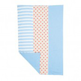 Organic Burp Cloth, Blue Stripes & Dots