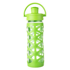 16oz Glass Water Bottle with Active Flip Cap