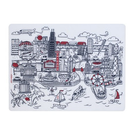 Silicone Placemat, Chicago