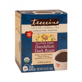 Dandelion Dark Roast Chicory Herbal Tea, Gluten Free