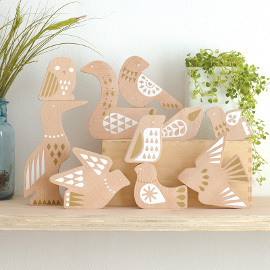 Deluxe Bird Jumble Wood Puzzle & Play