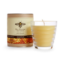 Pure Beeswax Beehive Glass Candle