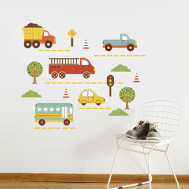 By Land Fabric Wall Decals