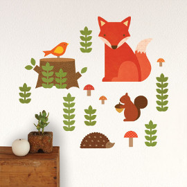 Woodland Fabric Wall Decals