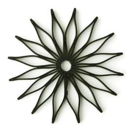 Blossom Silicone Trivet, black