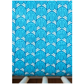 Mod Teal Organic Cotton Crib Sheet